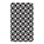 Modern Dots In Squares Mosaic Black White Memory Card Reader