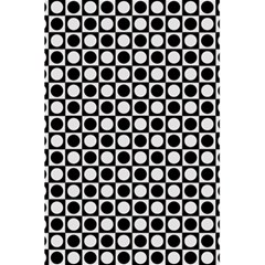 Modern Dots In Squares Mosaic Black White 5 5  X 8 5  Notebooks