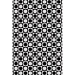 Modern Dots In Squares Mosaic Black White 5.5  x 8.5  Notebooks Front Cover
