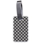 Modern Dots In Squares Mosaic Black White Luggage Tags (Two Sides)