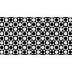 Modern Dots In Squares Mosaic Black White Magic Photo Cubes Long Side 3
