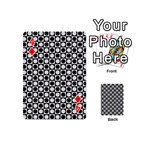 Modern Dots In Squares Mosaic Black White Playing Cards 54 (Mini)  Front - Diamond4