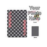 Modern Dots In Squares Mosaic Black White Playing Cards 54 (Mini)  Front - Joker2