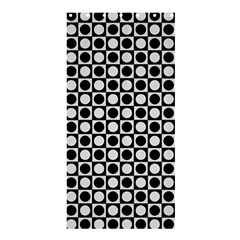 Modern Dots In Squares Mosaic Black White Shower Curtain 36  X 72  (stall)  by EDDArt