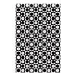 Modern Dots In Squares Mosaic Black White Shower Curtain 48  x 72  (Small)