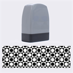 Modern Dots In Squares Mosaic Black White Name Stamps