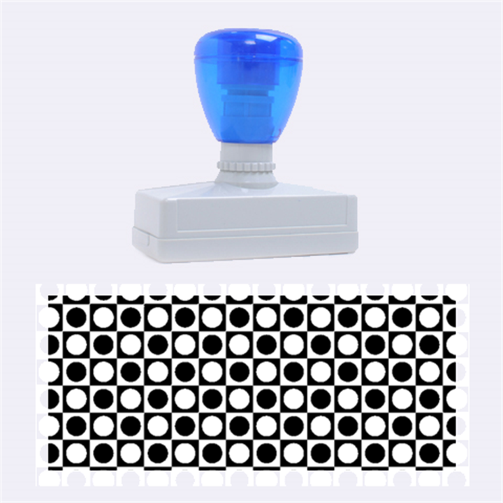 Modern Dots In Squares Mosaic Black White Rubber Stamps (Large)