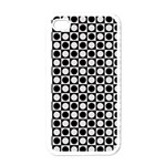 Modern Dots In Squares Mosaic Black White Apple iPhone 4 Case (White)