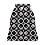 Modern Dots In Squares Mosaic Black White Bell Ornament (2 Sides)