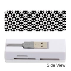 Modern Dots In Squares Mosaic Black White Memory Card Reader (stick)  by EDDArt