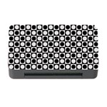 Modern Dots In Squares Mosaic Black White Memory Card Reader with CF
