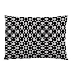Modern Dots In Squares Mosaic Black White Pillow Case (Two Sides)