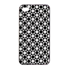 Modern Dots In Squares Mosaic Black White Apple Iphone 4/4s Seamless Case (black)