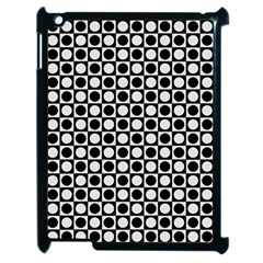 Modern Dots In Squares Mosaic Black White Apple Ipad 2 Case (black) by EDDArt