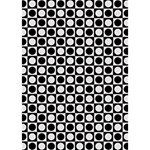 Modern Dots In Squares Mosaic Black White Heart 3D Greeting Card (7x5) Inside