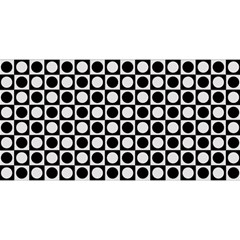 Modern Dots In Squares Mosaic Black White You Are Invited 3d Greeting Card (8x4) by EDDArt