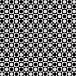 Modern Dots In Squares Mosaic Black White Congrats Graduate 3D Greeting Card (8x4) Inside