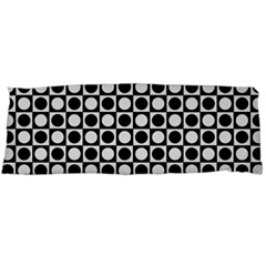 Modern Dots In Squares Mosaic Black White Body Pillow Case (Dakimakura)