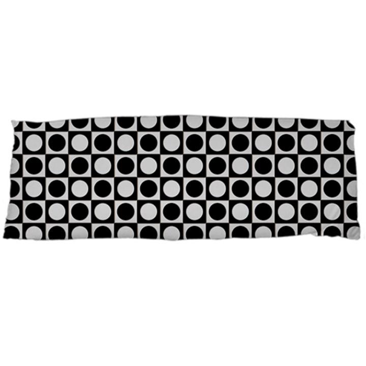 Modern Dots In Squares Mosaic Black White Body Pillow Case (Dakimakura)