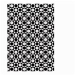 Modern Dots In Squares Mosaic Black White Small Garden Flag (Two Sides) Back