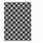 Modern Dots In Squares Mosaic Black White Large Garden Flag (Two Sides)