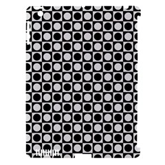 Modern Dots In Squares Mosaic Black White Apple iPad 3/4 Hardshell Case (Compatible with Smart Cover)
