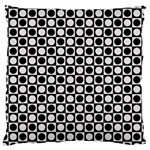Modern Dots In Squares Mosaic Black White Large Cushion Case (Two Sides) Back