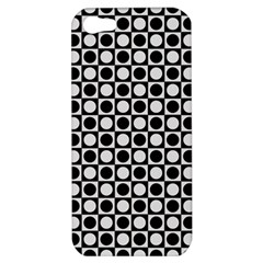 Modern Dots In Squares Mosaic Black White Apple Iphone 5 Hardshell Case by EDDArt