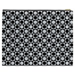 Modern Dots In Squares Mosaic Black White Cosmetic Bag (XXXL)  Back