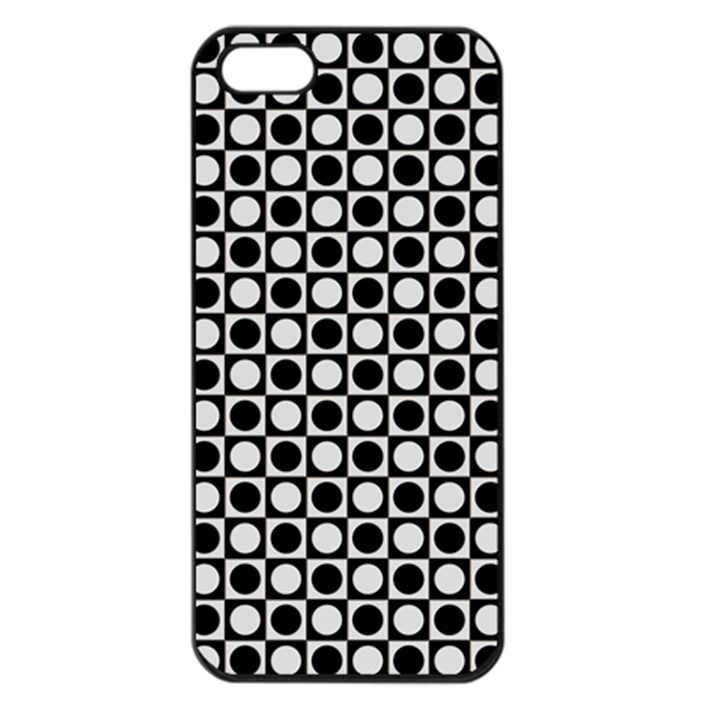 Modern Dots In Squares Mosaic Black White Apple iPhone 5 Seamless Case (Black)