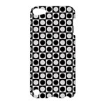 Modern Dots In Squares Mosaic Black White Apple iPod Touch 5 Hardshell Case