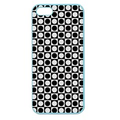 Modern Dots In Squares Mosaic Black White Apple Seamless iPhone 5 Case (Color)