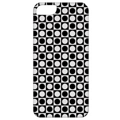 Modern Dots In Squares Mosaic Black White Apple Iphone 5 Classic Hardshell Case by EDDArt