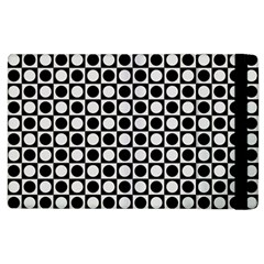 Modern Dots In Squares Mosaic Black White Apple Ipad 3/4 Flip Case by EDDArt