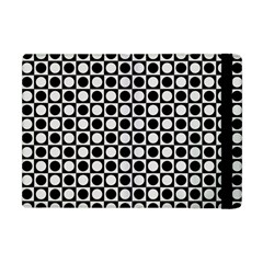 Modern Dots In Squares Mosaic Black White Apple iPad Mini Flip Case