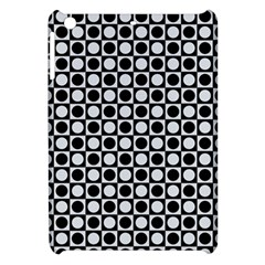 Modern Dots In Squares Mosaic Black White Apple Ipad Mini Hardshell Case