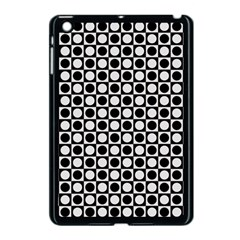Modern Dots In Squares Mosaic Black White Apple iPad Mini Case (Black)
