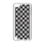 Modern Dots In Squares Mosaic Black White Apple iPod Touch 5 Case (White) Front