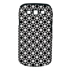 Modern Dots In Squares Mosaic Black White Samsung Galaxy S Iii Classic Hardshell Case (pc+silicone) by EDDArt