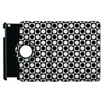 Modern Dots In Squares Mosaic Black White Apple iPad 2 Flip 360 Case