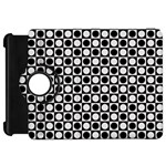 Modern Dots In Squares Mosaic Black White Kindle Fire HD Flip 360 Case
