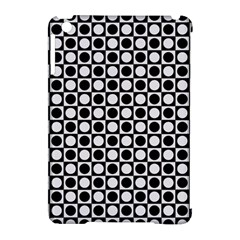 Modern Dots In Squares Mosaic Black White Apple iPad Mini Hardshell Case (Compatible with Smart Cover)