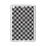 Modern Dots In Squares Mosaic Black White iPad Mini 2 Enamel Coated Cases