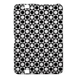 Modern Dots In Squares Mosaic Black White Kindle Fire HD 8.9