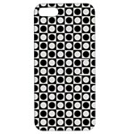 Modern Dots In Squares Mosaic Black White Apple iPhone 5 Hardshell Case with Stand