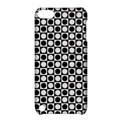 Modern Dots In Squares Mosaic Black White Apple Ipod Touch 5 Hardshell Case With Stand by EDDArt