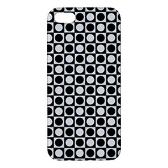 Modern Dots In Squares Mosaic Black White Apple Iphone 5 Premium Hardshell Case by EDDArt