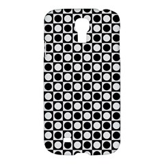 Modern Dots In Squares Mosaic Black White Samsung Galaxy S4 I9500/i9505 Hardshell Case by EDDArt