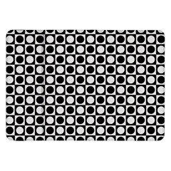 Modern Dots In Squares Mosaic Black White Samsung Galaxy Tab 8 9  P7300 Flip Case by EDDArt