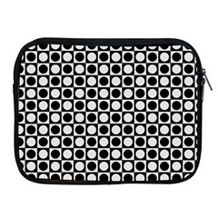 Modern Dots In Squares Mosaic Black White Apple iPad 2/3/4 Zipper Cases